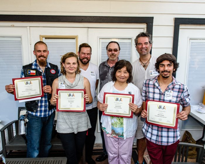 The award winners with Juror d.m. allison and VAA President Matt Adams